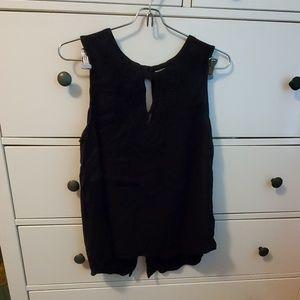 black crocheted tank top